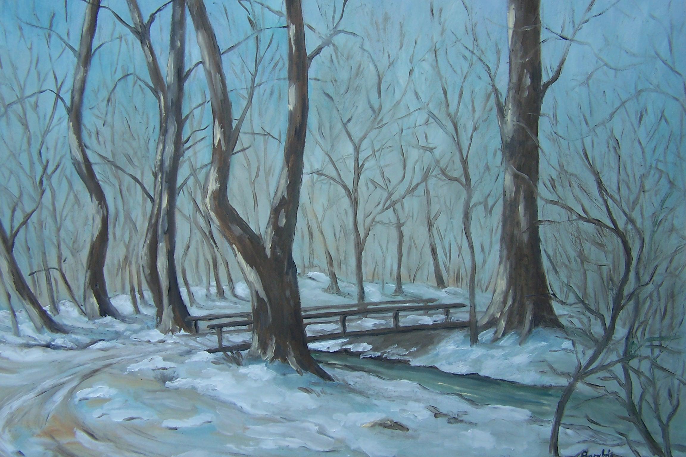 Gaja völgye tél