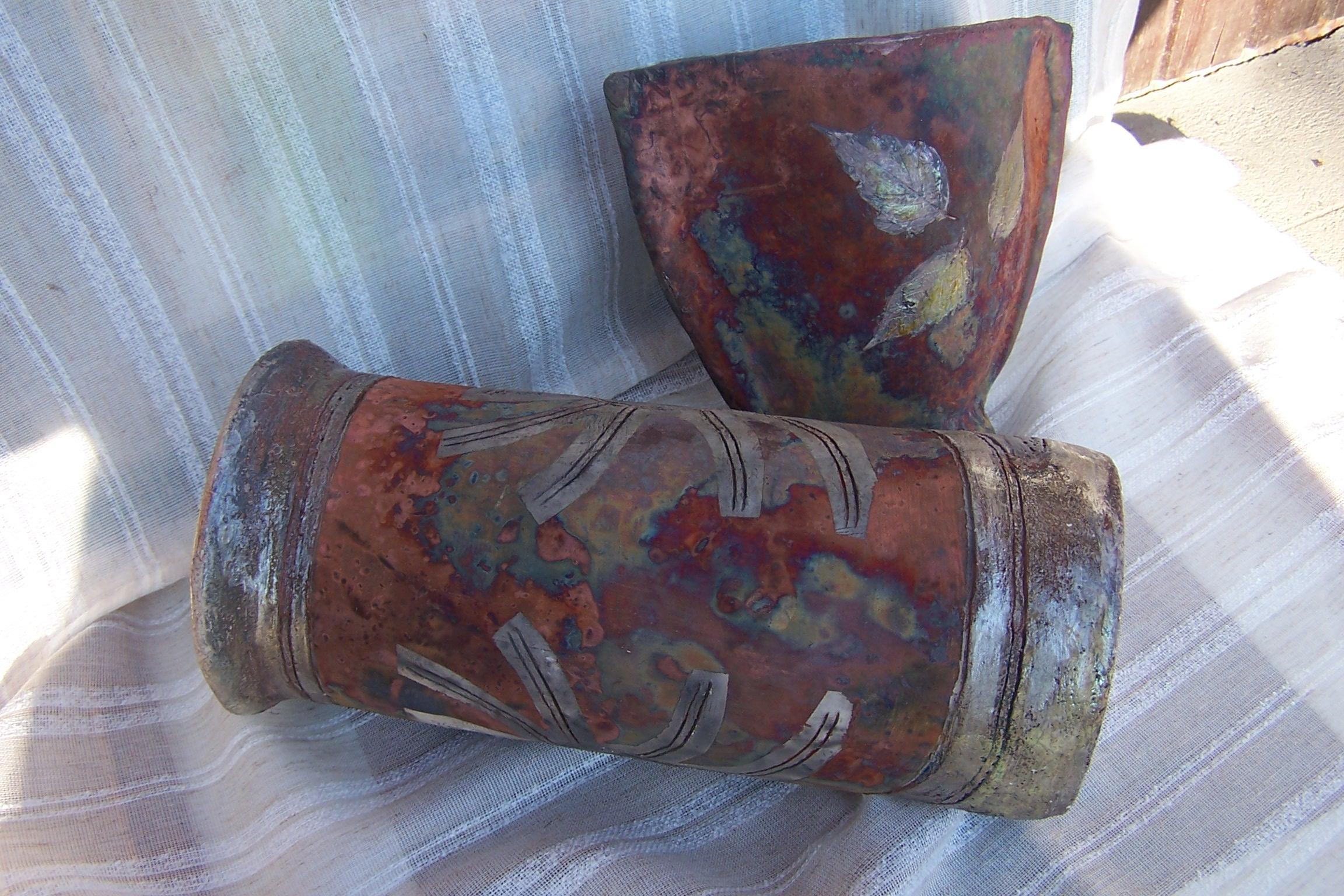 Raku váza és tál