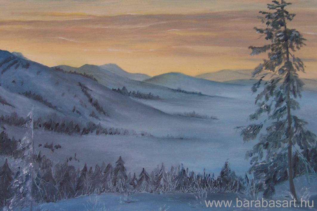 Téli este a hegyekben